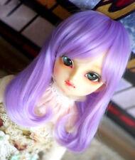 1//4 7-8 18-20cm bjd Doll Long Wig Hair Slant fringe Gold Auburn Iron Straight Zu