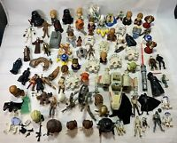 Assorted STAR WARS Figures,Vehicles,Mini Toys,Weapons,Accessories And Much More