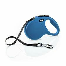 Flexi New Classic Large Tape, 5m, Blue - Lead Tape Dog Retractable