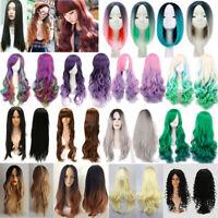 Femmes Perruque Cheveux Longue Courte Raide Bouclé Ondulé Cosplay  Profi Deco