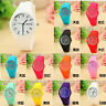 2016 Geneva Women Ladies Soft Jelly Silicone Quartz Sports Girl Kids Wrist Watch