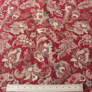 """Antique c1870 French Ethnic/Indienne Floral Red Cotton Jacquard Fabric~43""""X 23"""""""