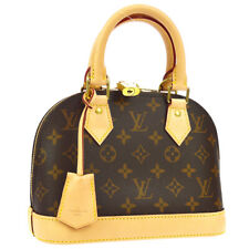 LOUIS VUITTON ALMA BB 2WAY HAND BAG PURSE MONOGRAM CANVAS M53152 SN3109 K08584