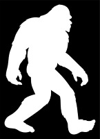 Big Foot Sasquatch Yeti Decal Sticker Car Truck SUV  Bumper Wall Laptop Tablet