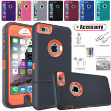 For Apple iPhone SE 5S 5 5c Heavy Duty Shockproof Case Phone Cover W/ Accessory
