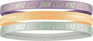 Nike Hairbands Youths Teenage Girls Size Head Bands 3 Pack Pastel Brand New