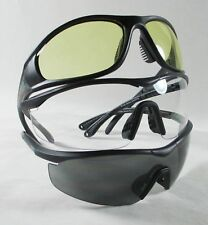3 NEW GANDER MOUNTAIN TACTICAL SHOOTING / SAFETY GLASSES - CLEAR / GREY / YELLOW