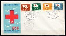 Dutch Antilles - 1958 Red Cross -  Mi. 88-91 clean FDC (E8)