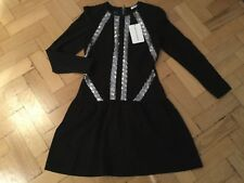 NWT Brigitte Bardot New & Genuine Ladies Size 8/10 UK Black/Silver Sequin Dress