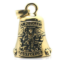St. Michael Archangel Catholic Patron Saint Stainless Steel Gold Bell Pendant