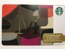 STARBUCKS Card Christmas 2014 Monogram Alphabet Series Letter M - Free Shipping
