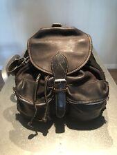 Pre-Owned Rugby North America Dark BrownLeather Backpack