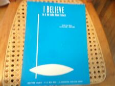 I Believe - vintage sheet music - inspirational song - Gaither 1968