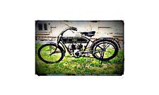 1913 peugeot Bike Motorcycle A4 Retro Metal Sign Aluminium