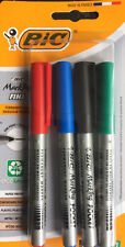 BIC 4 marcador permanente marca fino Bolígrafos Negro, Azul, Verde, Color Rojo Punto Fino