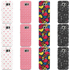 HEARTS PATTERN DESIGN LOVE HEART CASE COVER FOR SAMSUNG GALAXY MOBILE PHONES
