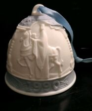 Lladro 1990 Christmas Bell Ornament Three Wise Men Blue Trim with Box