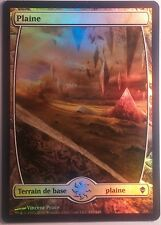 Plaine Full Art Zendikar VF PREMIUM / FOIL French Textless Plains  Magic mtg 233