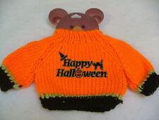 """Happy Halloween"" Bear or Doll Orange Halloween Sweater ~ Fits 12""-16"" Bears"