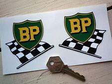 """BP pré'58 style vieux bouclier & Drapeau Autocollants 3 """"Paire VANWALL Connaught BRM era"""