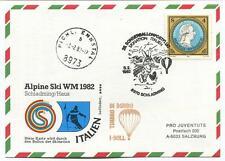 1982 Sonder Ballonpost n. 25 Pro Juv. I-SOLL Schladming Alpine Ski WM82 Italia