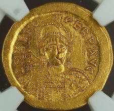 Zeno, 474-491 Ad, Gold Solidus, East. Roman Empire, Ngc Au Ancient, Strike 4/5