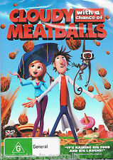 Cloudy With A Chance Of Meatballs DVD Movie BRAND NEW SEALED Region 4 FREE POST