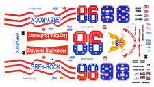 #98 Richie Panch Daytona Budweiser 1/64th HO Scale Slot Car Waterslide Decals