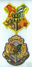 BRITISH HARRY POTTER COLLECTIONS: HOGWARTS SCHOOL of MAGIC CREST 2-PATCH SET