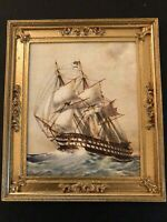 "Framed Naval Print - H.M.S. ""CANOPUS""  Vintage Dollhouse 1:12"