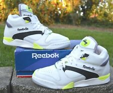 DS Original 1990 Reebok Court Victory Pump White/Black/Yellow Michael Chang 9.5