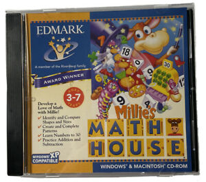 Millie's Math House Remark  PC Software CD-ROM Windows Mac Education Ages 3-7