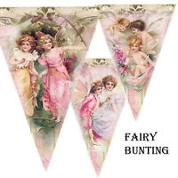 Bunting Pink fairy Party Garland Party Decoration Girl Party Wedding Birthday