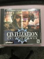 Civilization: Call to Power PC CD-Rom 1999 - Game Disc & Jewel Case
