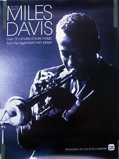 VERY BEST OF MILES DAVIS 1991 VINTAGE ORIG JAZZ MUSIC RECORD STORE PROMO POSTER