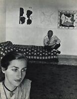 1955 Vintage Pablo Picasso & Wife Vallauris Photo Gavure Art By ROBERT DOISNEAU