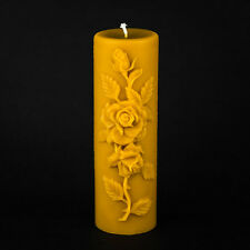 """Pure Beeswax - Large Rose Pillar Candle (3""""x9"""")"""