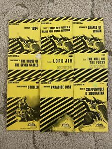 Cliff Notes. Lot Of 9