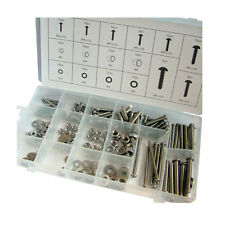 Toolzone - 224 Piece Stainless Steel Nuts And Bolts Dc