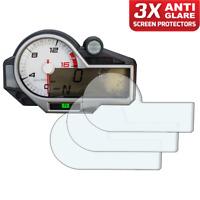 3 x BMW S1000RR S1000XR S1000R 2015> Dashboard Screen Protector: Anti-Glare
