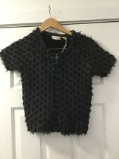 NWT Anthropologie Dotted Shaggy Crop Cardigan Sweater Size XS