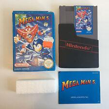 Mega Man 5 | Modul (fast WIE NEU) + Anleitung + OVP | NES Spiel PAL-B CIB