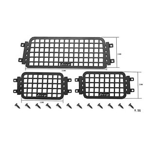 Metal Side Rear Window Mesh for Axial SCX24 Wrangler RC rawler Car Upgrade Parts