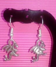 DRAGON drop earrings DRAGON jewellery MYTHICAL earring SURGICAL STEEL