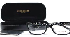 COACH HC6119F 5510 Black Rectangular Womens Full Rim Eyeglasses 53-16-140