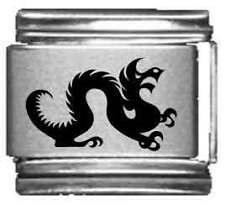 Clearly Charming Dragon Laser Italian Charm