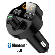 [Upgraded Version] USB Wireless In-Car Bluetooth FM Transmitter Radio Adapter UK