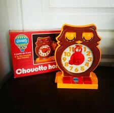 Vintage 1975 Chouette Horloge Meccano Tomy Excellent État Dans Boîte D'origine