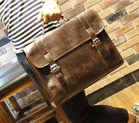 Men's Business Case Briefcase PU Leather Shoulder Satchel Messenger Laptop Bag