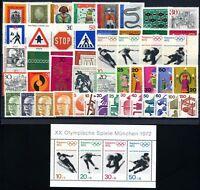 Bund Jahrgang 1971 jede MiNr 1x mit Block postfrisch MNH